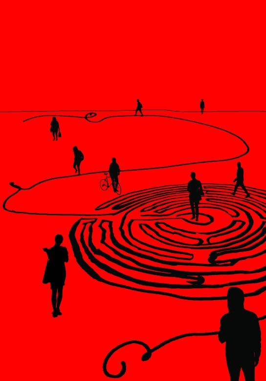 afbeelding labyrint voor Over het IJ-2